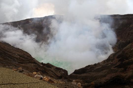 Nakadake crater