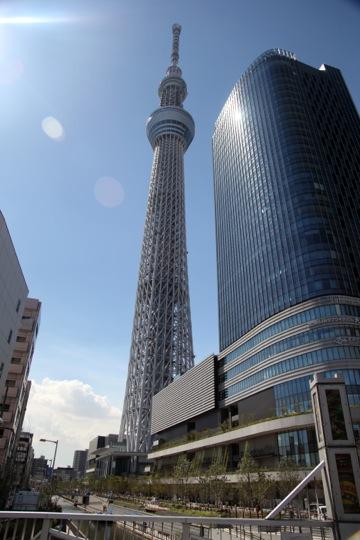 Day 3 – La Tokyo Skytree… vue du bas