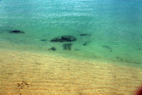 mer calme sable blanc